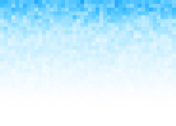 abstract gradient pixel background - pixellated stock photos and pictures