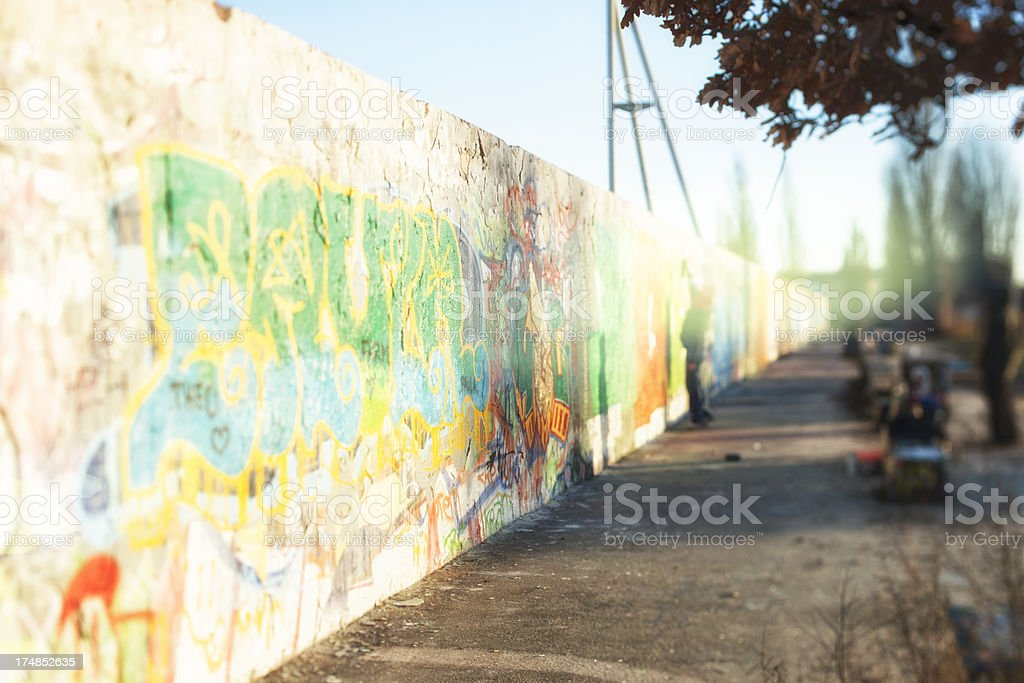 Abstract graffiti en Berlin Mauerpark royalty-free stock photo