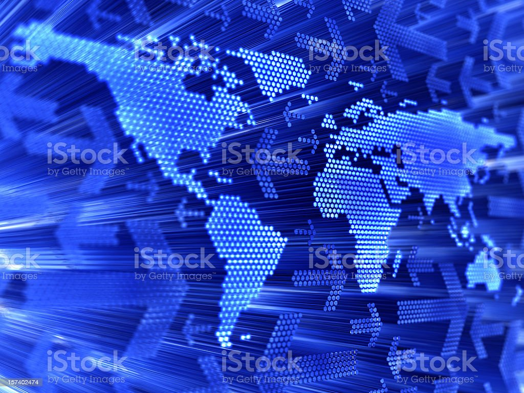 Abstract graphic design of a world map royalty-free stock photo
