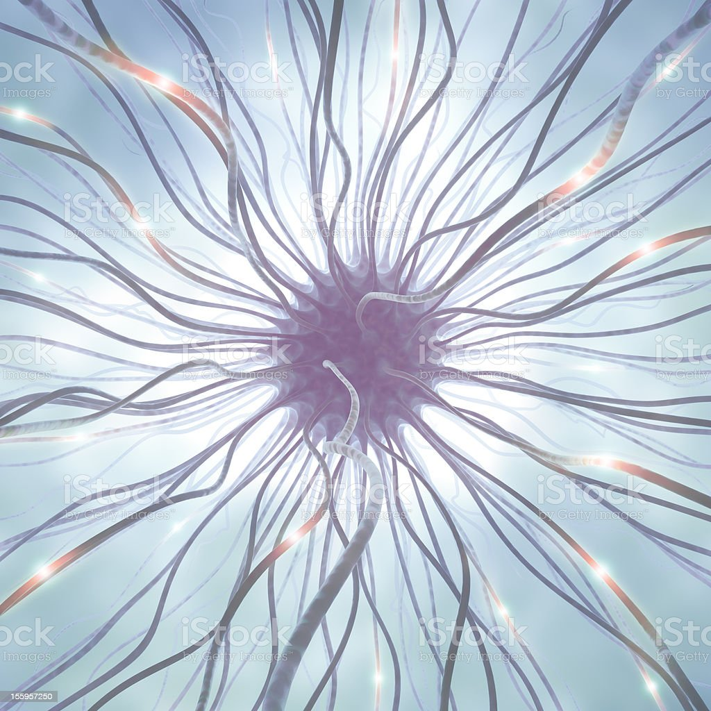 Abstract graphic of a nerve cell stock photo