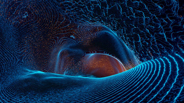 Abstract gravity wave background stock photo
