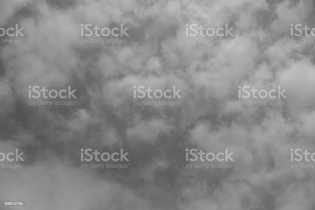 Abstract gray background composed of indistinct cloud shapes stock photo