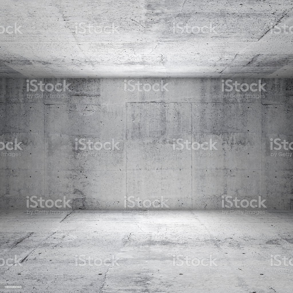 Abstract gray interior of a concrete room that is empty stock photo