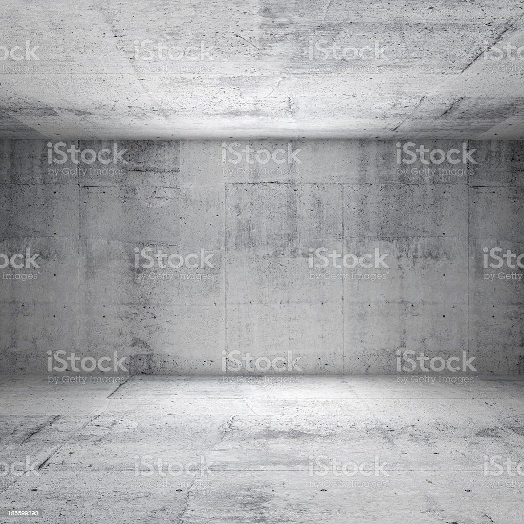 Abstrakte weiße Innenraum mit leeren Raum mit konkreten Wände – Foto