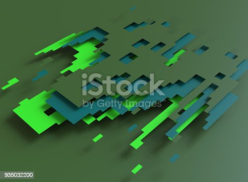 istock Abstract green and blue background 935032200