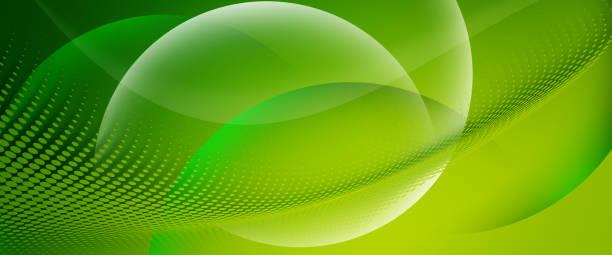 abstrakten grünen hintergrund mit kreis und halbton - windung stock-fotos und bilder