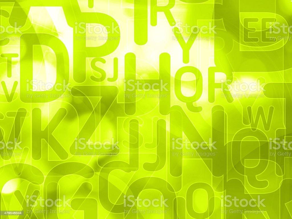 Tło zielone tło z liter losowy – zdjęcie