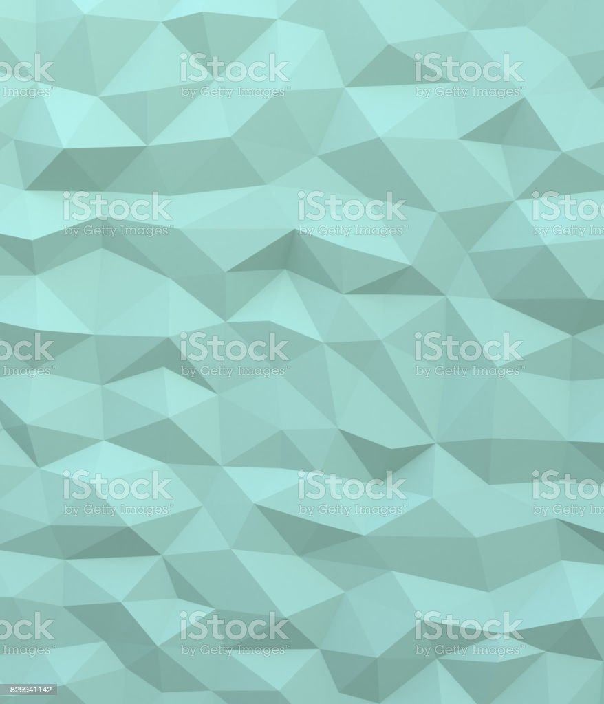 Abstract green background with triangulate polygon pattern stock photo