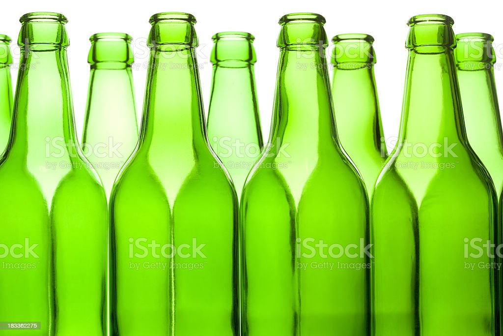 Abstract green beer bottles. royalty-free stock photo