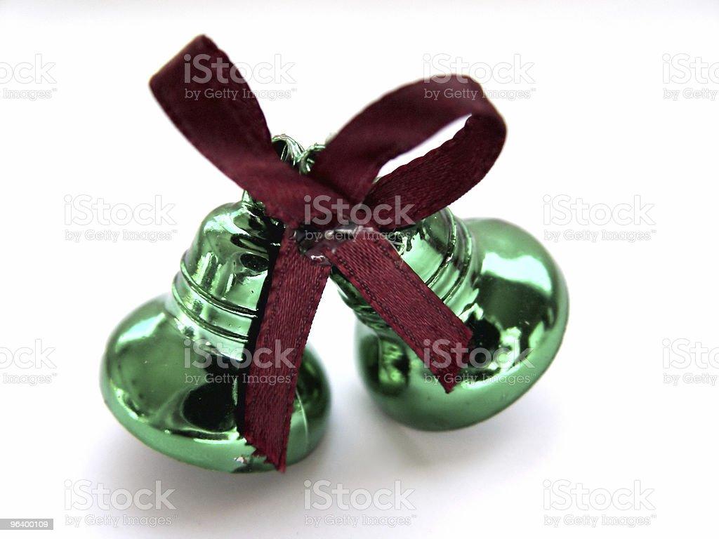 抽象的なグリーンの鐘にリボン - お祝いのロイヤリティフリーストックフォト