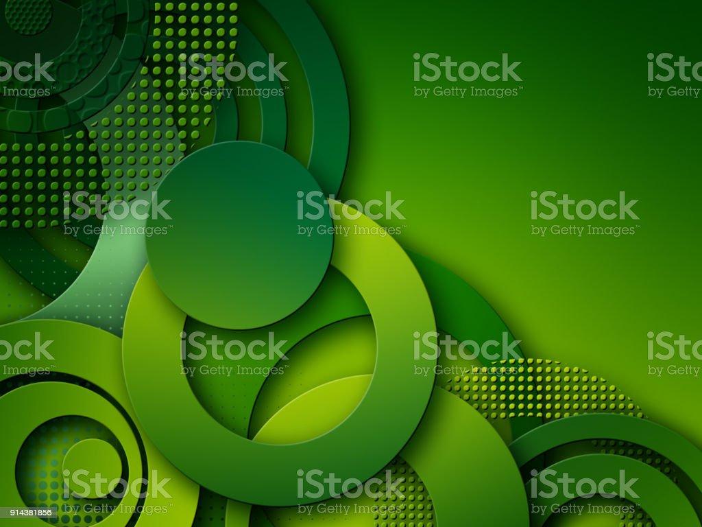 抽象綠色圓圈背景圖像檔