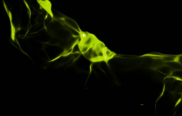 abstrakt grün dunkel - medium strähnchen stock-fotos und bilder