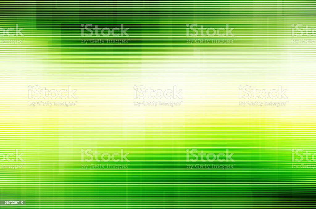Abstract green line background. stock photo