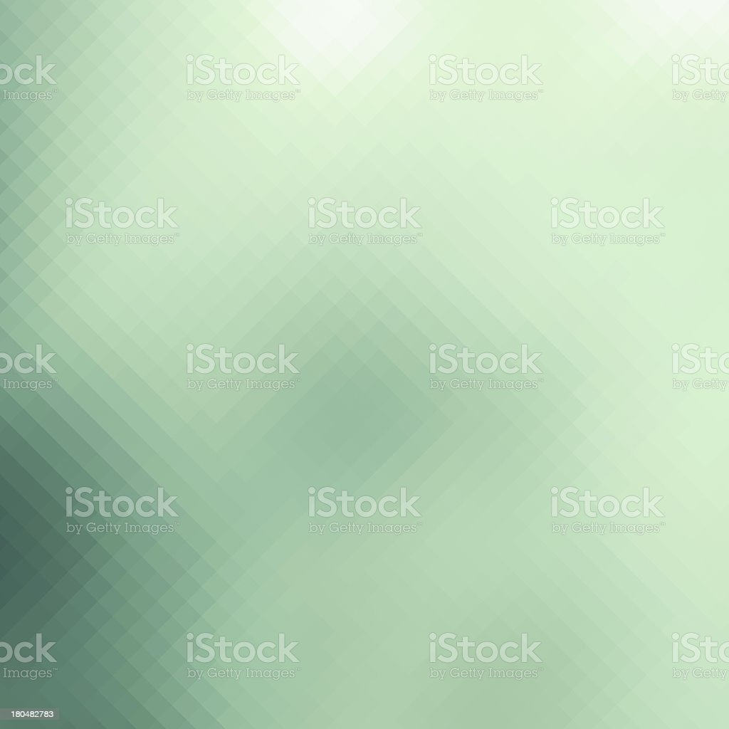 Abstract green pixelated background, business card template, website design royalty-free stock photo