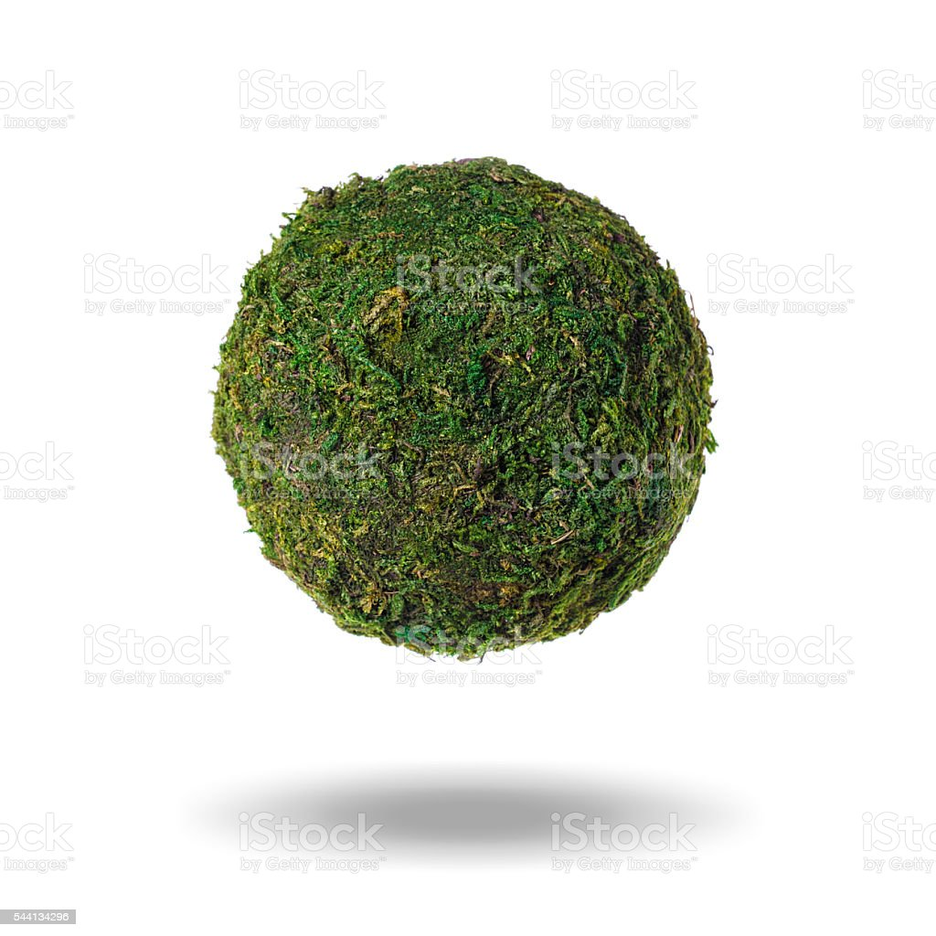 Abstract green planet with shadow on a white background стоковое фото
