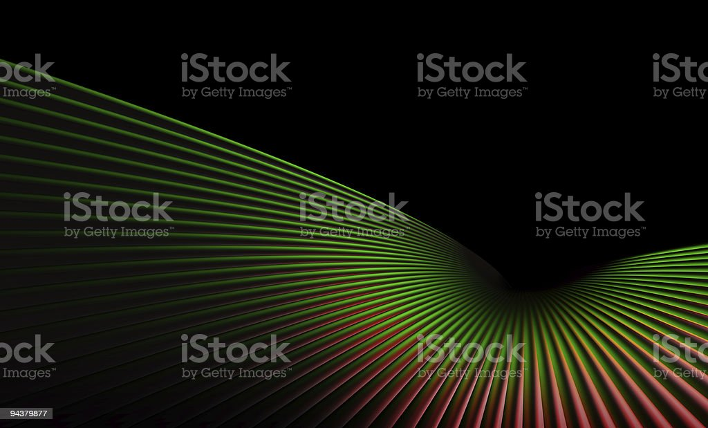 Abstract Green Red Dynamic Element 3D (XXLarge) royalty-free stock photo