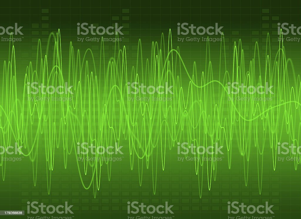 Abstract Green Sound Background 2 stock photo