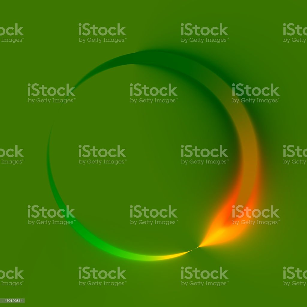Abstract Green Spinner. Clockwise Direction. Looping Refresh Logo. Web Design. stock photo