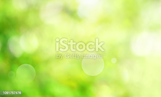 istock Abstract green spring scenery 1091757476