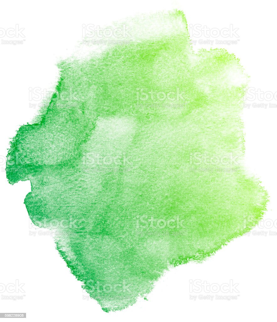 Fundo aquarela abstrato Verde. foto royalty-free