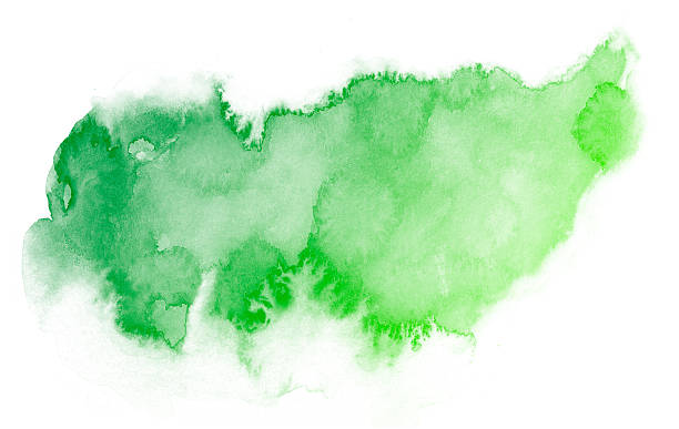 Abstract green watercolor background. stock photo