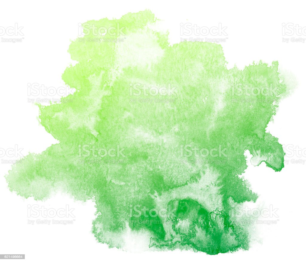 Sfondo ad acquerello astratto verde. foto stock royalty-free