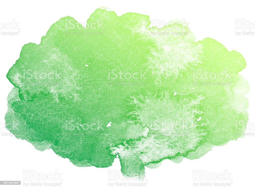 Sfondo ad acquerello astratto verde. foto stock royalty-free