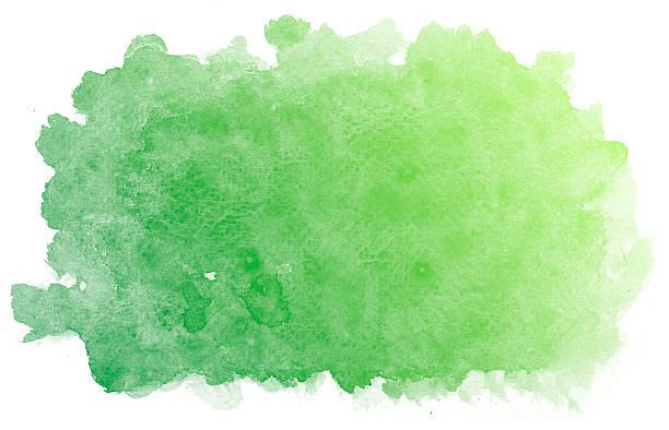 抽象的なグリーンの水彩バックグラウンド ストックフォト