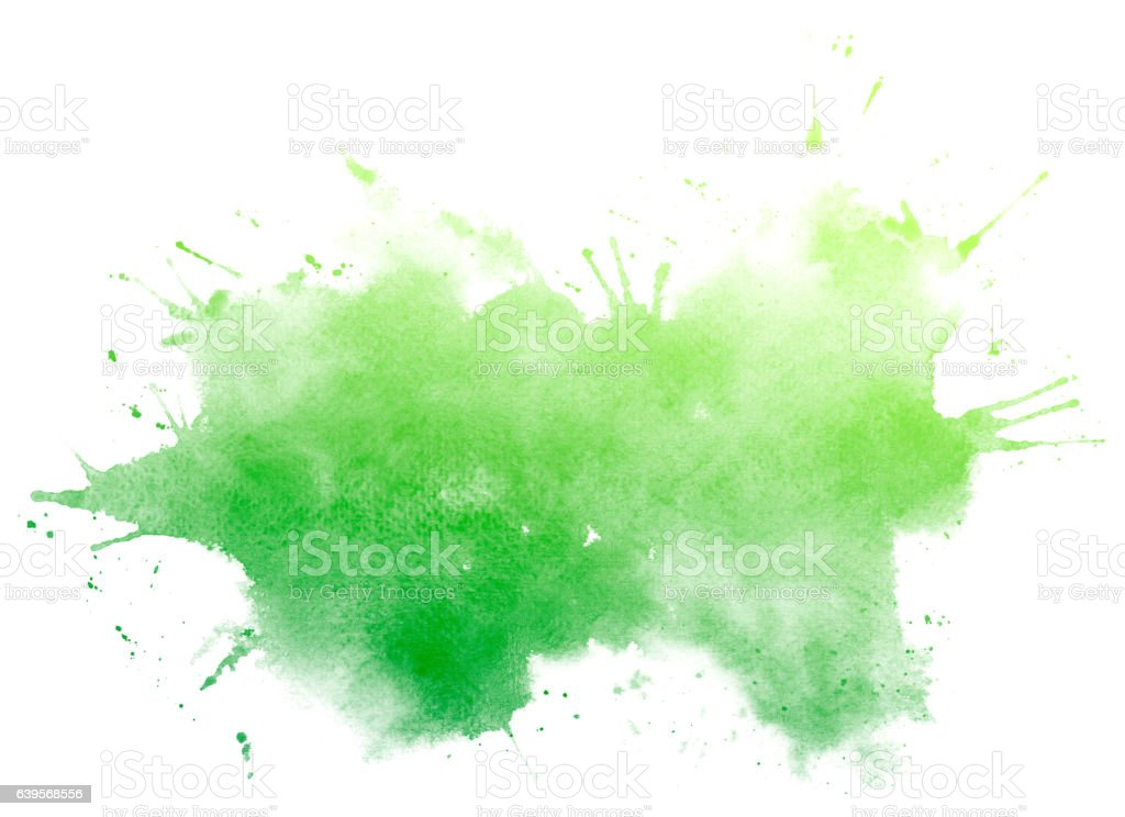 Vert abstrait aquarelle fond. - Photo