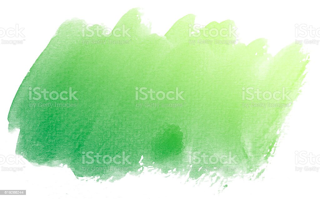 Abstract green watercolor on white background. stock photo