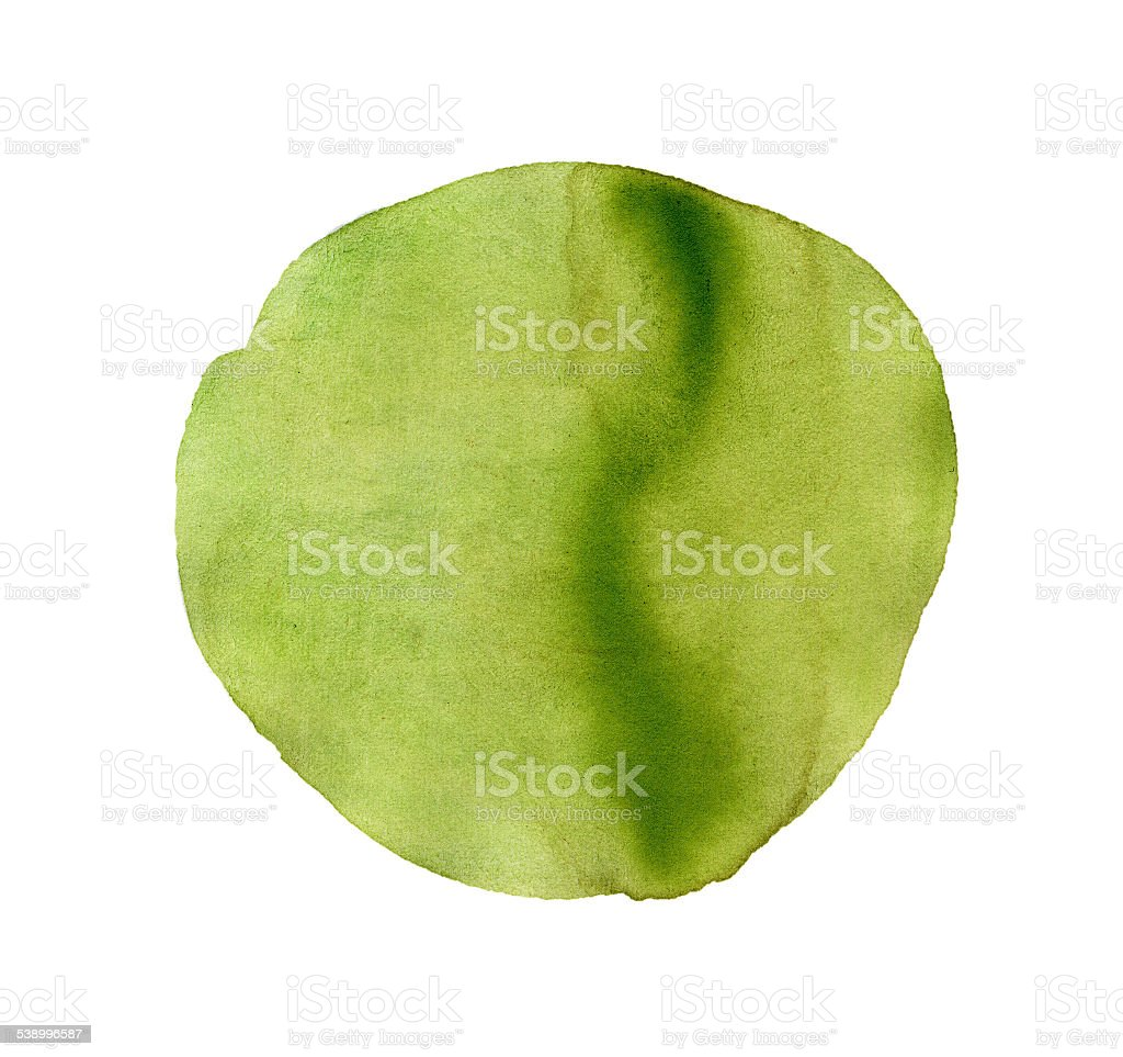 Abstract green watercolor painted circle stock photo