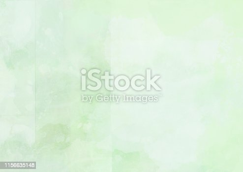 istock Abstract green watercolor painted landscape background 1156635148