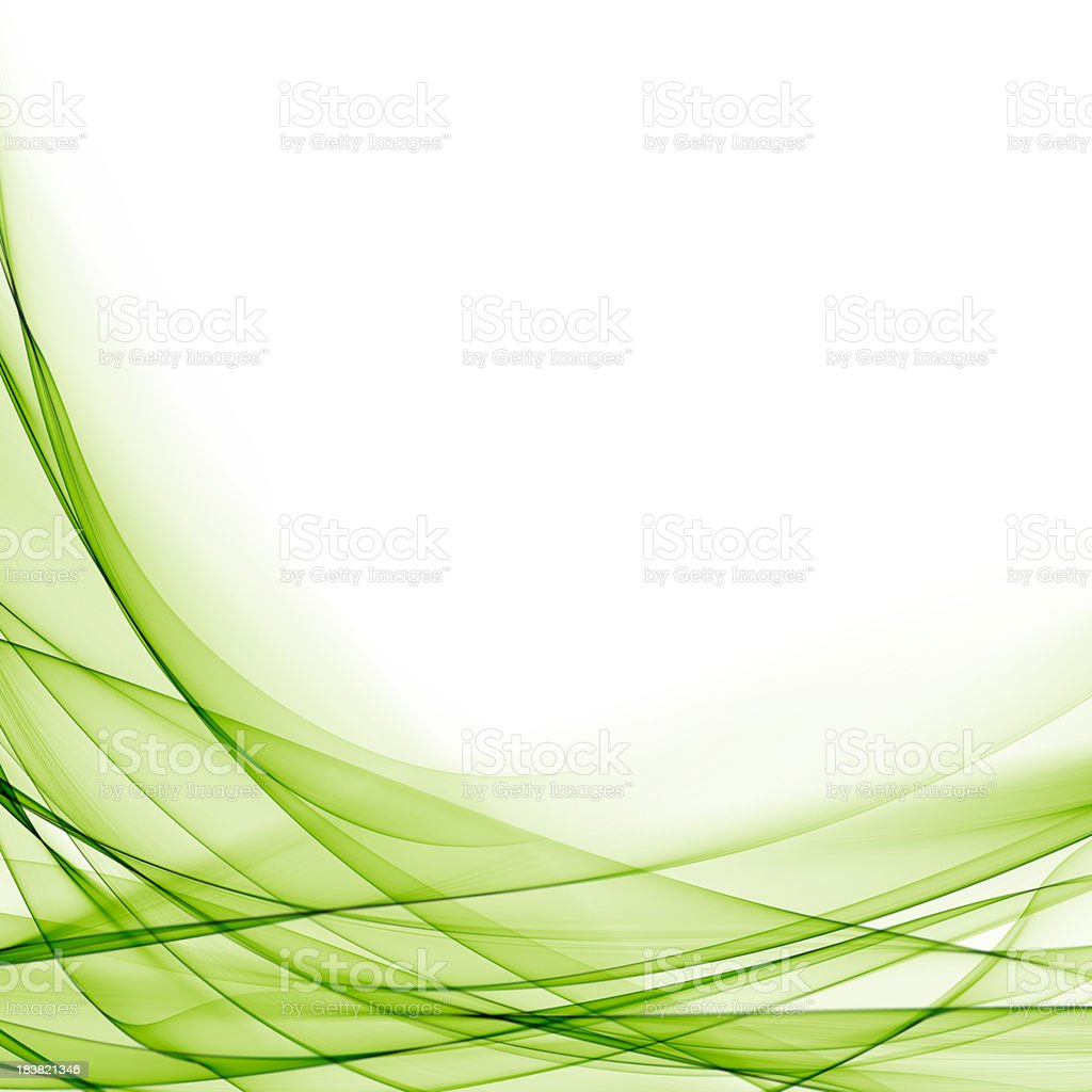 Abstract Green Waves stock photo