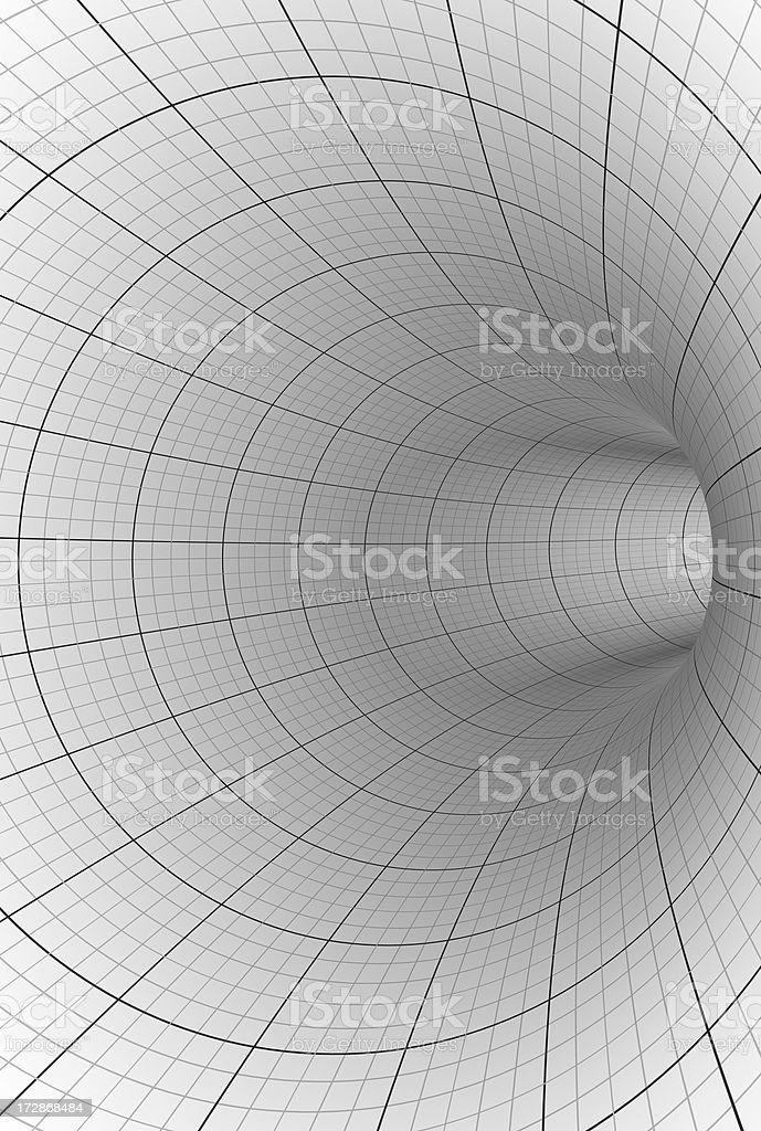 Abstract grey and white tunnel background stock photo