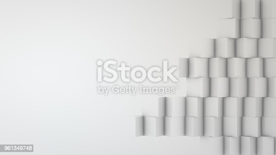 istock Abstract Grey Cubes Background 961349748