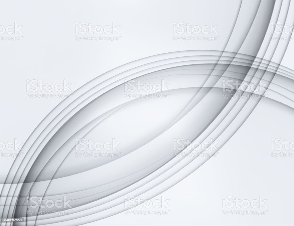 Abstract grey pearl smooth waves stock photo