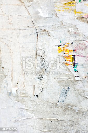 istock Abstract Grunge Background with Old Torn Posters 491224650