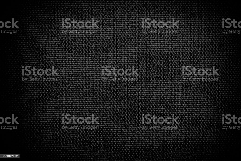 Abstract grunge black fabric texture background stock photo