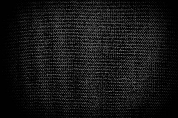 abstract grunge black fabric texture background - mesh textile stock photos and pictures