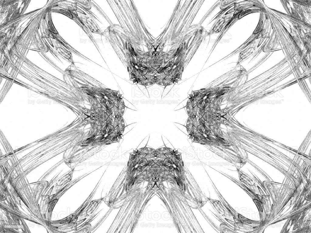 Abstract grunge dirty black symmetrical pattern royalty-free stock photo