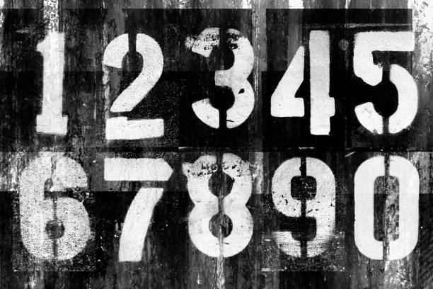 abstract grunge futuristische hintergrund mit zahlen. blaupause auf alte grunge oberfläche - schlechte laune sprüche stock-fotos und bilder
