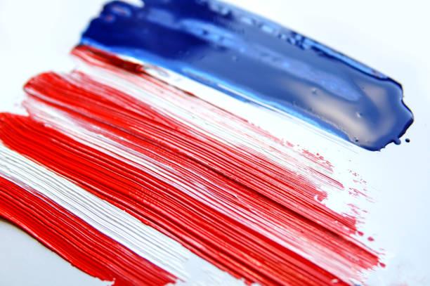 Grunge abstrato dos EUA bandeira pintada - foto de acervo