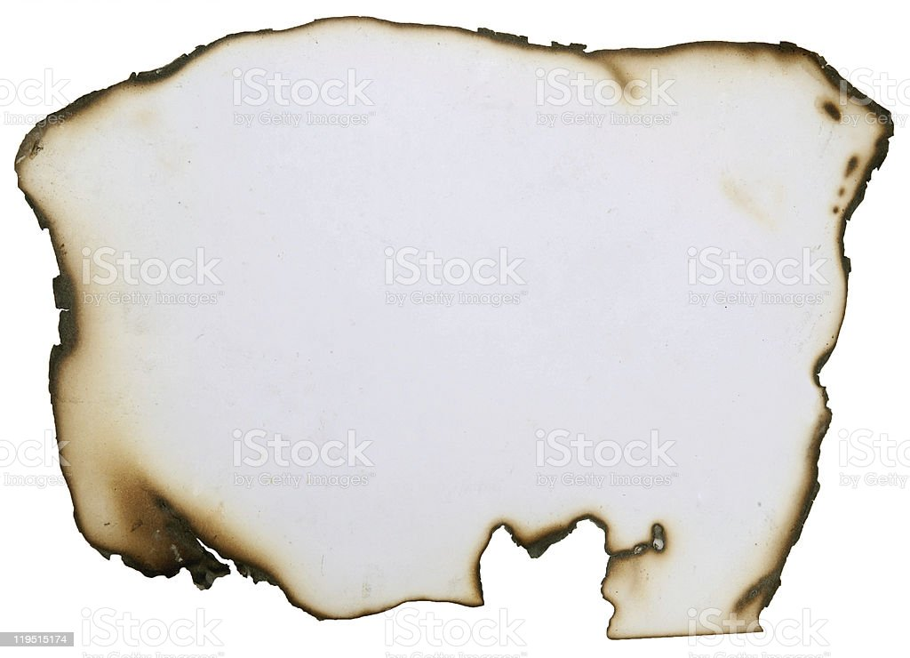 Abstract grunge paper with burned edges royalty-free stock photo