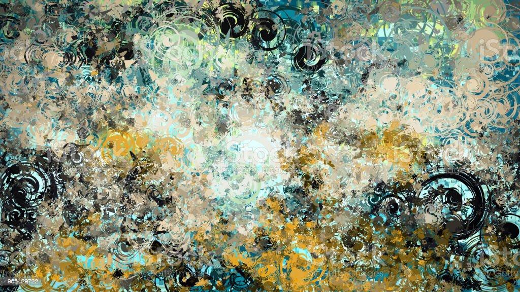 Abstract grunge texture et fond avec des éléments circulaires en spirale, fond multicolore - Photo de Abstrait libre de droits