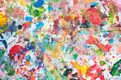 istock Abstract grunge texture of watercolor paint splatter 457135801