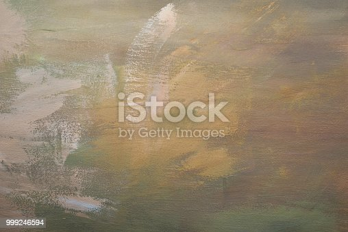 istock Abstract grunge wall painted beige brown background texture 999246594