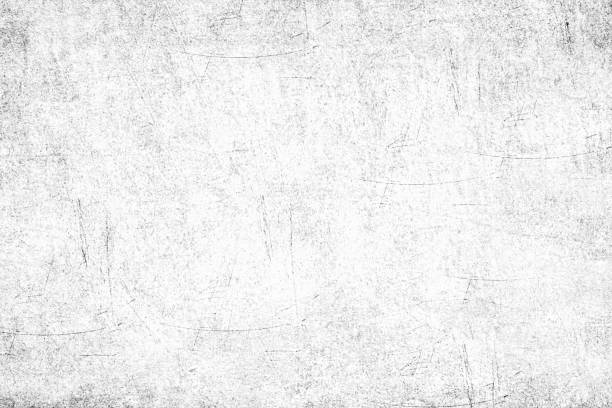 Abstract grunge white texture background Close up on old scratched metal plate surface. Black and white monochromatic high key effect made with Photoshop, to obtain grunge effect. eroded stock pictures, royalty-free photos & images