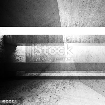 istock Abstract grungy 3d concrete background 585055624