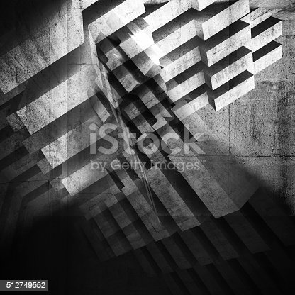 istock Abstract grungy concrete background. 3d 512749552