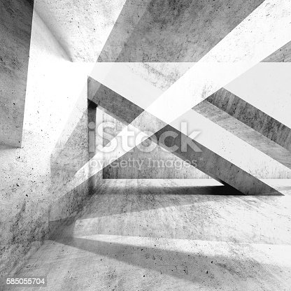 istock Abstract grungy concrete wall background 3d 585055704
